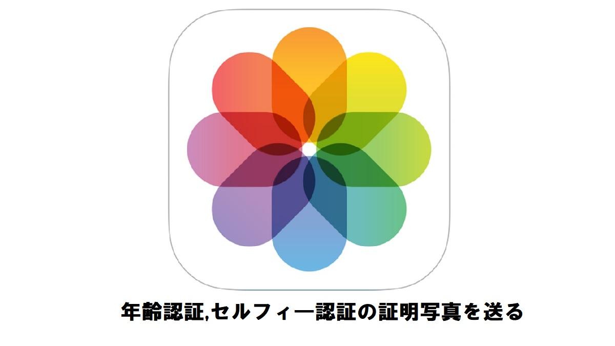iPhone/iPadメール添付で年齢認証,セルフィ―認証の証明写真を送る。